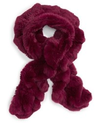 Toria rose genuine rabbit fur scarf medium 1037112