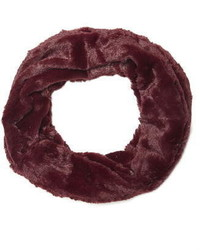 Wine Crushed Faux Fur Snood