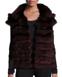 Tory Burch Blaire Fox Fur Vest