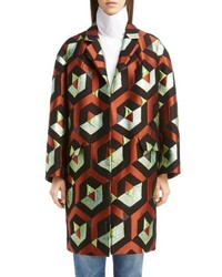 Dries Van Noten Geo Metallic Jacquard Coat