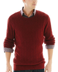 Claiborne Basket Weave Textured Argyle Sweater