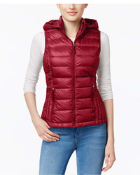 Hooded packable down puffer vest created for macys medium 6988309