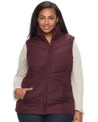 Weathercast Plus Size Weathercast Puffer Vest