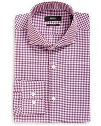 BOSS Mark Sharp Fit Gingham Dress Shirt