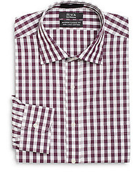 Saks Fifth Avenue BLACK Modern Classic Fit Gingham Dress Shirt