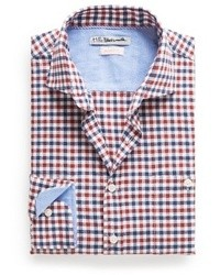 Mango Outlet Slim Fit Two Tone Check Shirt