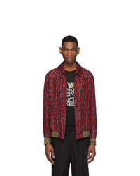 Fendi Reversible Red And Black All Over Forever Jacket
