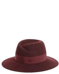 Virginie genuine rabbit fur felt hat burgundy medium 4412843