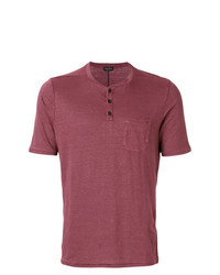Burgundy Henley Shirt