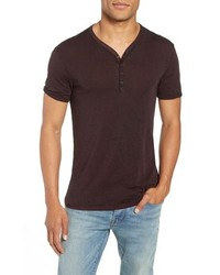 John Varvatos Star USA Burnout Henley T Shirt