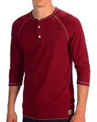 Iron Resin Kenton Henley Shirt 34 Sleeve
