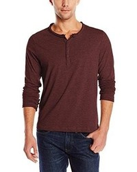 Rogue State Long Sleeve Raw Edge Henley