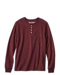 SAE-A TRADING Mossimo Supply Co Long Sleeve Henley Shirt Royal Burgundy S