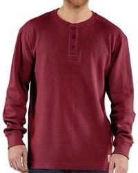 Carhartt Textured Knit Henley Shirt Long Sleeve