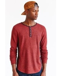 BDG Winterlight Henley Curved Hem Shirt