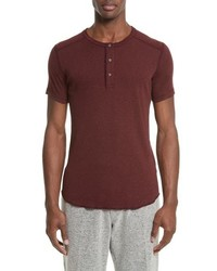 Wings + Horns Base Short Sleeve Henley