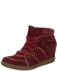 Burgundy High Top Sneakers