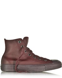 Converse Limited Edition All Star High Dark Burgundy Leather Sneaker