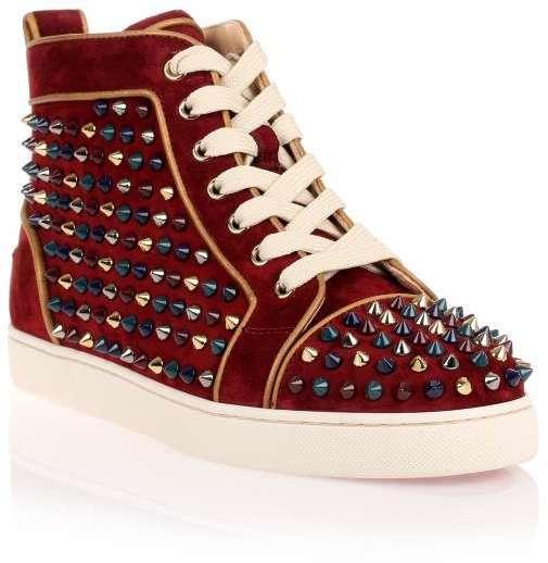 timeless design 152f6 c29f4 $1,295, Christian Louboutin Louis Woman High Top Sneaker