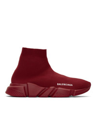 Balenciaga Red Speed Sneakers