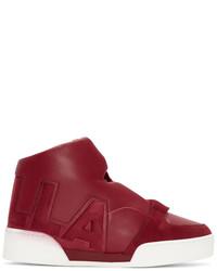 Stella McCartney Red Stella High Top Sneakers