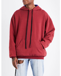 Unravel Brush Reverse Cotton Jersey Hoody
