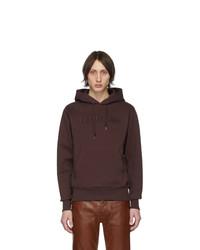 Helmut Lang Burgundy Standard Hoodie