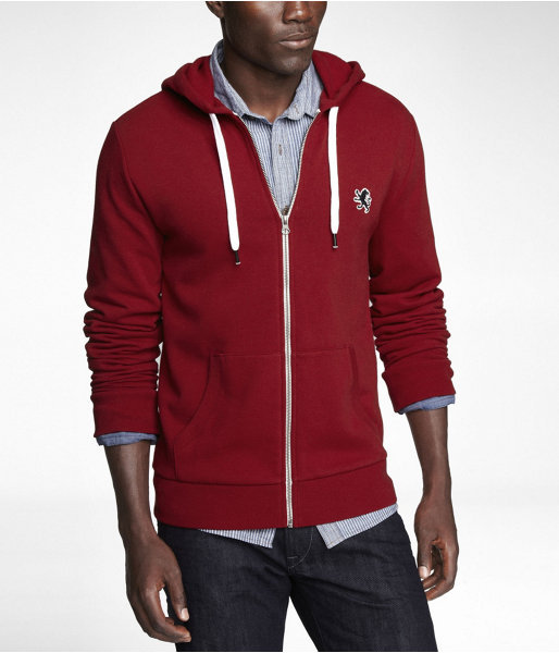 Express Fleece Small Lion Zip Up Hoodie | Where to buy & how to wear