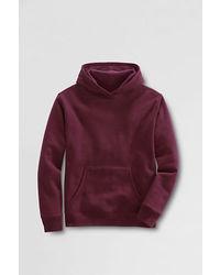 Lands' End Hoodie Pullover Sweatshirt Red