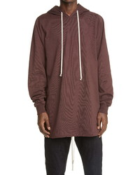 Rick Owens Longline Hooded T Shirt