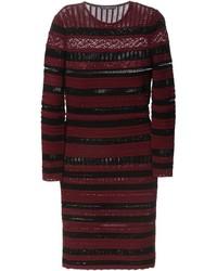 Alexander McQueen Striped Knit Dress