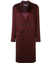 Givenchy Striped Double Breasted Coat