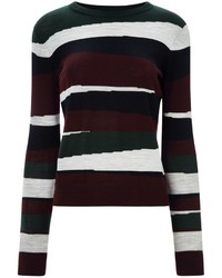 Carven Burgundy Merino Wool Jumper