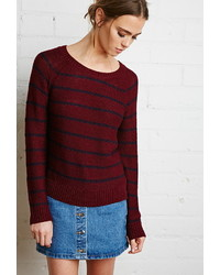 Forever 21 Stripe Textured Sweater