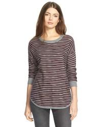 Treasurebond Asymmetrical Stripe Sweater