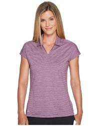 adidas Golf Tonal Stripe Cap Sleeve Polo Clothing