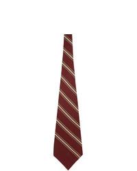 Gucci Red Silk Stripe Tie