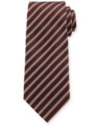 Giorgio Armani Wide Stripe Silk Tie Red