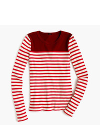 J.Crew Placed Stripe Rib T Shirt