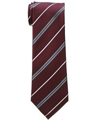 Burgundy Horizontal Striped Tie