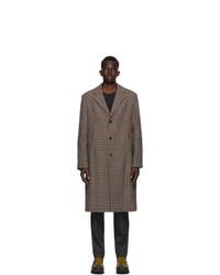 Acne Studios Burgundy And Blue Wool Coat