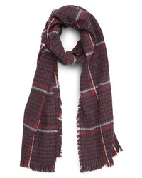 BP. Contrast Houndstooth Scarf