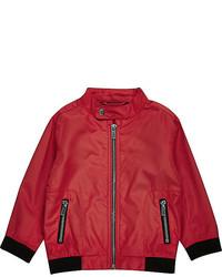River Island Mini Boys Red Bomber Jacket