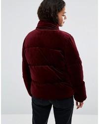 Asos Petite Petite Velvet Puffer Jacket