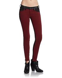 Rag and Bone Jekyll Leather Trim Jeans
