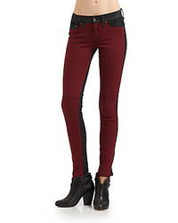 Rag and Bone The Jekyll Leather Trim Jeans