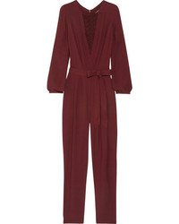 Burgundy Jumpsuit | Women's Fashion