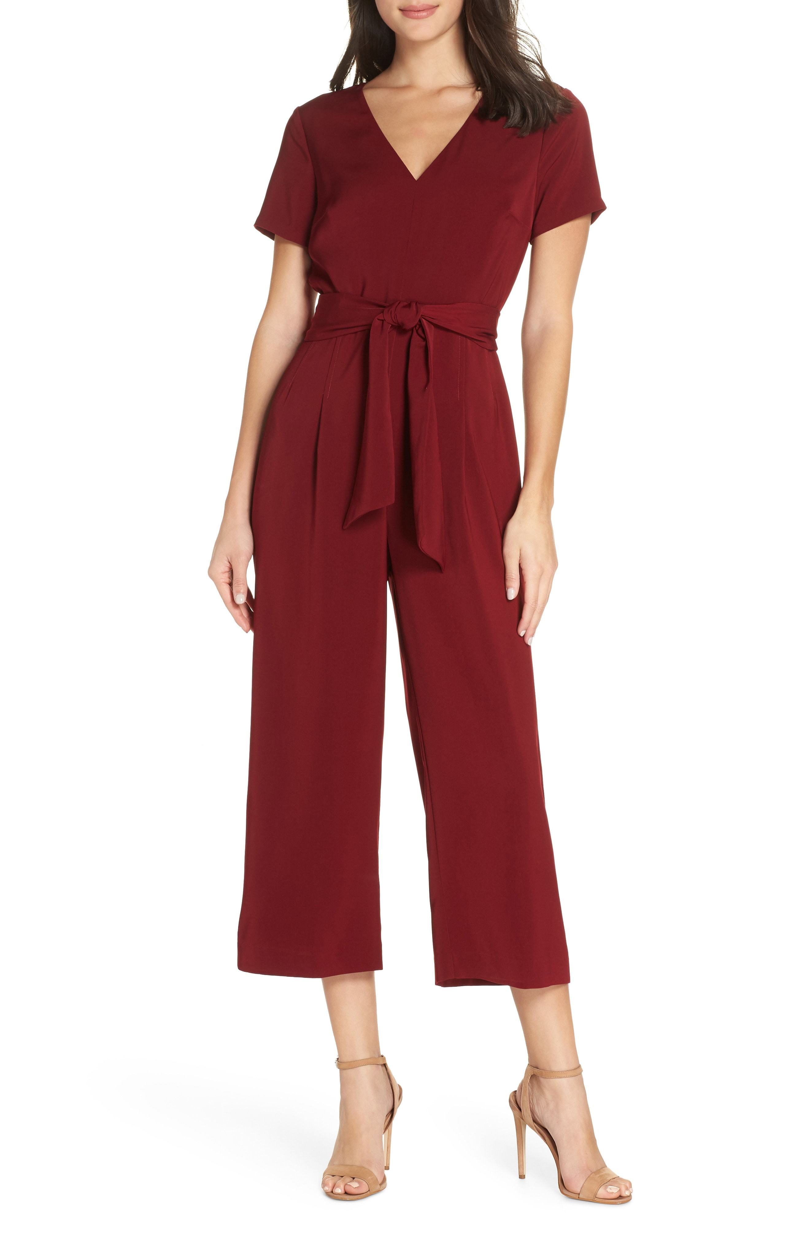 0f40a3f300f1 Charles Henry Crop Jumpsuit