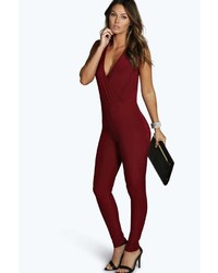 32b598d26b3 Boohoo Tall Scarlett Cap Sleeve Belted Jumpsuit Out of stock · Boohoo  Helena Cut Out Back Jumpsuit