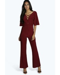 7e1611bbe97 Women s Burgundy Jumpsuits from BooHoo